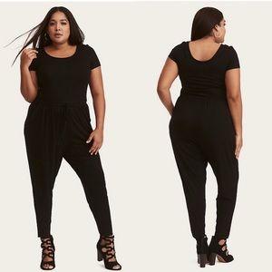 Torrid Black Jersey Knit Pockets Jumpsuit Size 1X